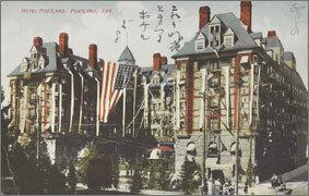 絵葉書:Hotel Portland, Portland, Ore.