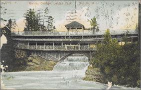 絵葉書:Rustic Bridge. Lester Park, Duluth, Minn.