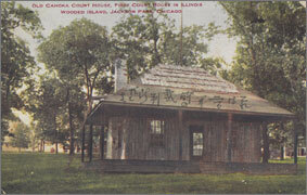 絵葉書:Old Cahoka Court House, First Court House in Illinois Wooded Island, Jackson Park, Chicago