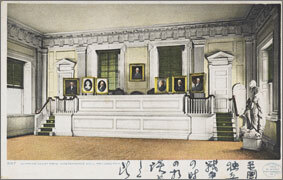 絵葉書:Supreme Court Room. Independence Hall Philadelphia, Pa.
